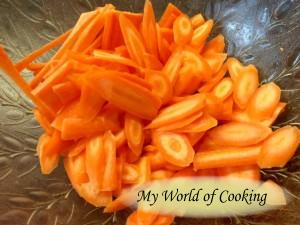 Karotten geraspelt