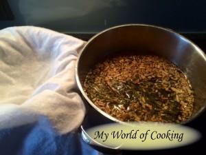 Sirup nach dem Aufkochen