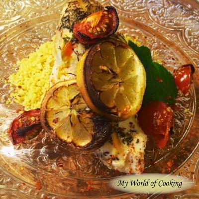 Zitronen-Thymian-Huhn mit Curcurma Couscous
