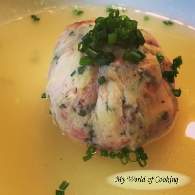 Pikante Tiroler Knöderln für die Suppe