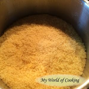 Fried Feta on Couscous