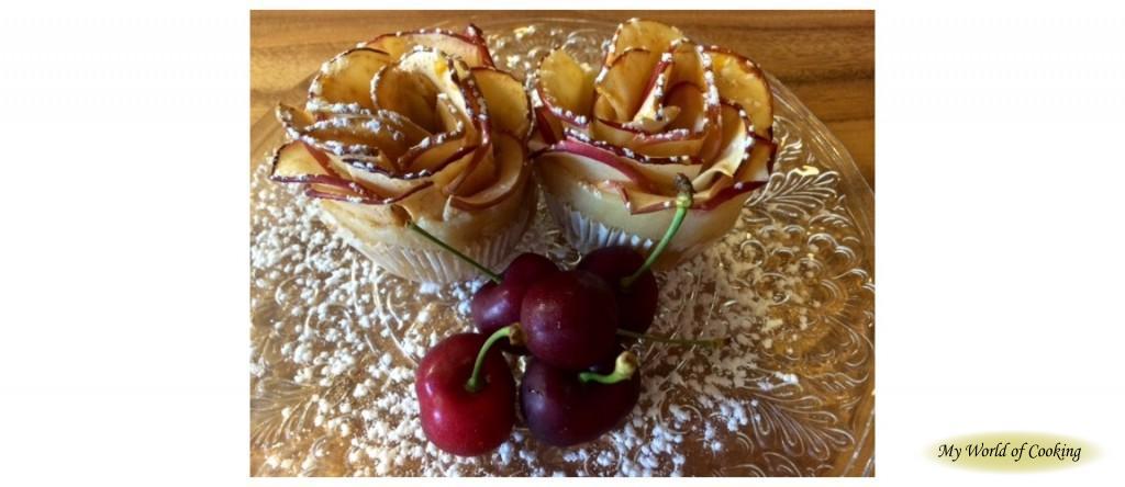 Apfelröschen mit Marzipan