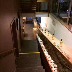 Stiegenaufgang Vinothek zum Heurigen