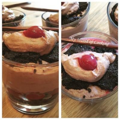 Oreo-Nutella-Trifle mit Sauerkirschen