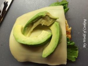 Frischkäse, Salat, Käse, Avocado