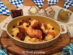 Gefüllte Hühnerbrust auf Bratkartoffeln & Auberginen
