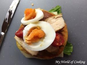 Huhn, Tomaten, Eier