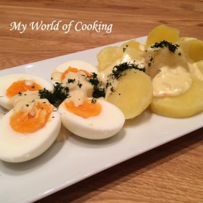 köstliche Senf-Eier mit Kartoffeln