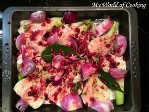 Fenchel-Gemüse mit Granatapfel