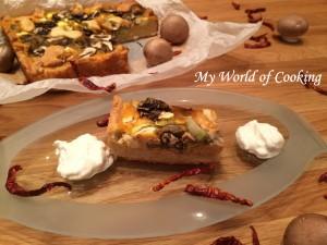 Kürbis-Quiche mit Ratatouille & Herzogin Kartoffeln