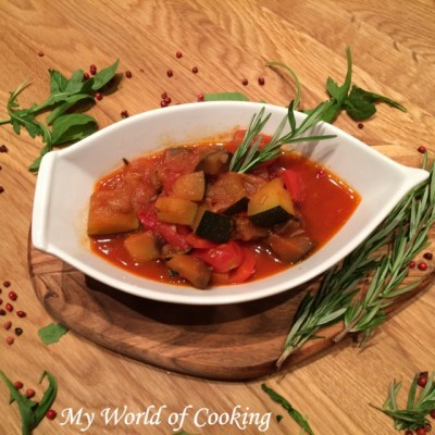 "veganes ""LLL"" Ratatouille => low-carb, light, lecker"