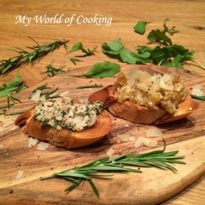 Crostini mit Zucchini & Thunfisch