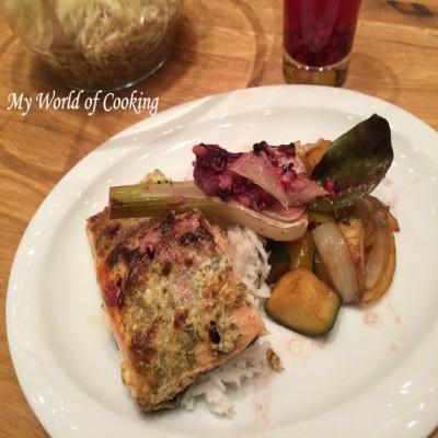 Lachsfilet mit Fenchel-Gemüse