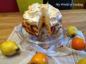 Biskuit-Topfen-Quitten-Torte