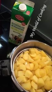 ... Kartoffeln stampfen ...