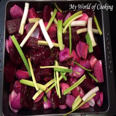 Rote Rüben-Zwiebel-Gemüse