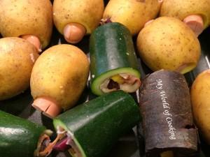 Detail Kartoffeln & Zucchini gefüllt