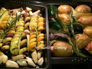 gefüllte Bio-Ofenkartoffeln mit Spirali-Gemüse