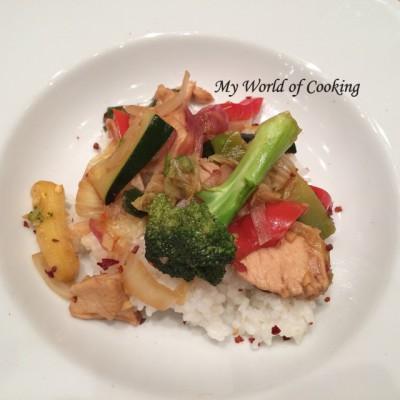 Bunter Gemüse-Wok mit Huhn – R. kocht!