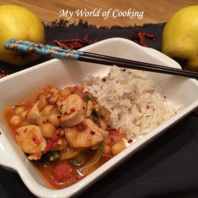 Gemüse-Hühner-Curry mit Kokosreis