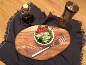 Oktopus Salat auf Rucola