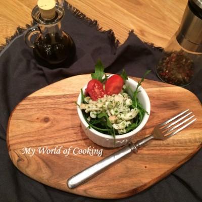 Oktopus-Salat auf Rucola mit Triester Sauce – R. kocht!