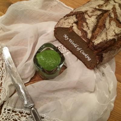 Grünes Pesto von Rucola & Vogerlsalat (oder) Wie verarbeite ich Salatreste?