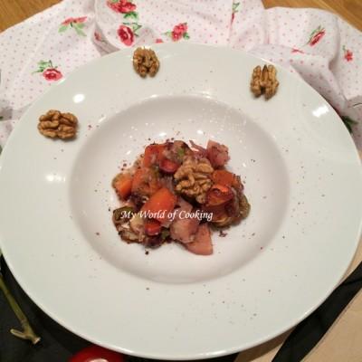 Bunte Gemüse – Gorgonzola – Nuss – Pfanne (oder) Elegante Reste-Verwertung