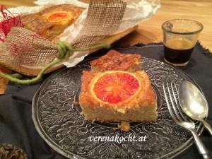 Orangen-Kuchen mit Schuss (oder) Beschwipste Orangen zur Sonntagsjause
