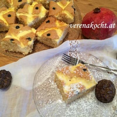 Topfen-Gitter-Kuchen mit Heidelbeeren (oder) Wieso muss es sonntags immer Kuchen geben?