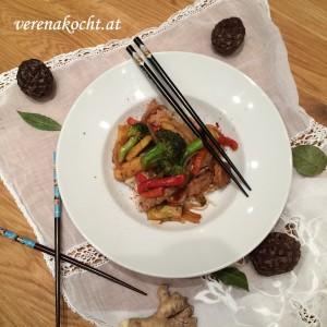 Wok vom Schwein mit Brokkoli & Zwiebeln