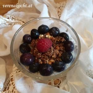 Früchte-Frühstücksbecher mit Kokos-Granola