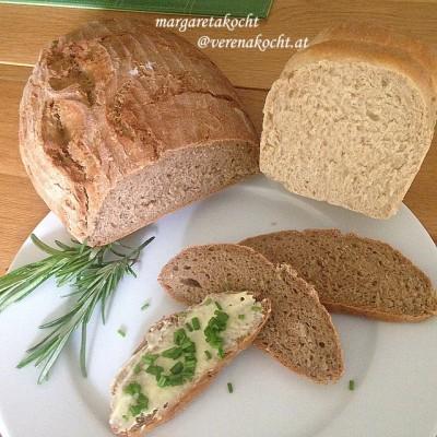Bio-Mischbrot aus Dinkel & Roggen (oder) Die Harmonie von Dinkel & Roggen in Form eines Brotes