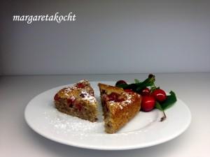 Kirschenkuchen mit Joghurt & Nüssen