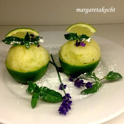 Spritzig süßes Limetten Minze Sorbet (oder) Es ist so leicht, sich inspirieren zu lassen!
