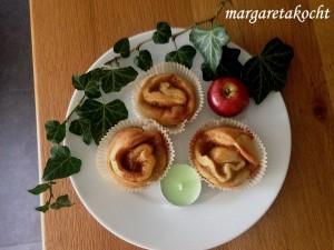 Bratapfelmus-Zimtschnecken