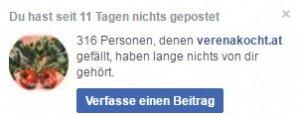 Facebook ruft zum Posten auf!