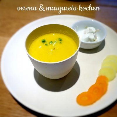 Karotten-Orangen-Suppe mit Ingwer (oder) Raus aus dem Alltag für die Familie!