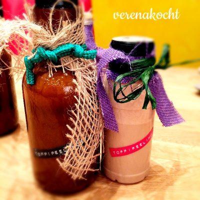 Weihnachtlicher home-made Toffifee-Likör (oder) perfektes Last-Minute-Geschenk für Süße