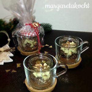 Heiße Schokolade im Glas