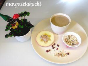 Müsli-Apfel-Frühstücksdrink