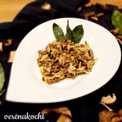 Orientalische Reispfanne mit Mango & Berberitze (oder) Hungern => schlemmen => chillen