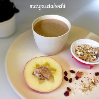 Müsli-Apfel-Frühstücksdrink (oder) Margaretas perfektes Frühstück2go