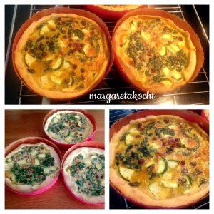 Spinat-Tartelettes mit Kichererbsen & Zucchini