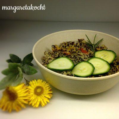 Quinoa Bowl mit Zucchini & Kürbis (oder) mit Lunch Bowls in die Fastenzeit