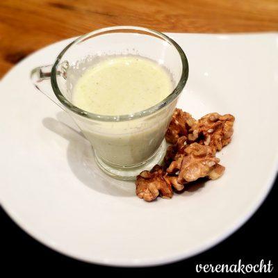 herrliche Zucchini-Creme-Suppe (oder) Ein krankes Hoch den gesunden Suppen!