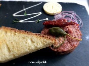 Beef Tartar aus reinem Rindsfilet