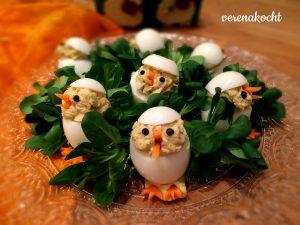 gefüllte Eier / Osterküken