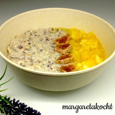vegane Dattel-Haferflocken-Frühstücks-Bowl (oder) in 40 Tagen ZUCKERFREI – (m)eine Challenge?