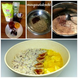 vegane Dattel-Haferflocken-Frühstücks-Bowl